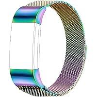 Für Fitbit Charge 2 Armband, Milanese Edelstahl Ersatzarmband Smart Watch Armbänder für Fitbit Charge 2