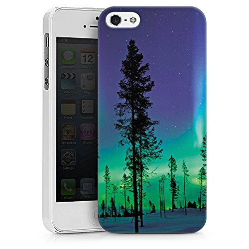 Apple iPhone X Silikon Hülle Case Schutzhülle Bäume Himmel Mystisch Hard Case weiß