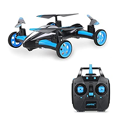 POBO Air Ground RC Drone Flying Car 4CH 2.4Ghz 6 Axis Gyro Quadcopter With LED Light from POBO