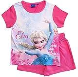 Frozen - Die Eiskönigin Mädchen Schlafanzug ELSA Pyjama (Fuchsia, 110-116)