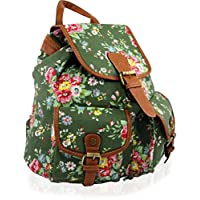 Yufashion brand new Backpack, satchel with flower pattern