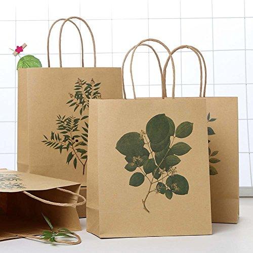 ViewHuge Kraft Braun Papier Tasche mit Griffen, Geschenktüten für Shopping Verpackung Retail Party Craft Geschenke Hochzeit recyceltem Merchandise Tasche 30pcs/Set(# 1+# 2+# 3)
