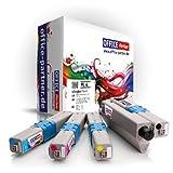 Pack 4 OKI C310 (BK/C/M/Y) - Supérieure Qualité Toner pour OKI C310DN C330DN C331DN C510DN C511DN C530DN C531DN MC351DN MC352DN MC361DN MC362DN MC561DN MC562DN