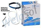 WelaSol® Free Swim XL Pool Schwimmgurt 3-tlg. inkl. Edelstahl Bodenhülse zur Befestigung - die günstigste Gegenschwimmanlage aller Zeiten