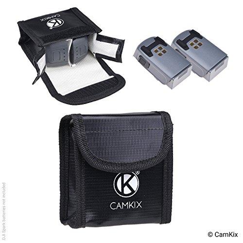 Explosionsgeschützte LiPo-Akku-Tasche für DJI Spark - Feuerresistente Sicherheits- und Aufbewahrungstasche - Für sichere Ladung und Transport - Bis zu 2 Spark Akkus - Ideale Lösung für Flugzeug