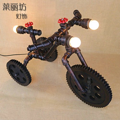 PinWei@ Wasserrohr Fahrradlampen, Handwerk-Lampen, bar Dekoration Lampe, Halloween (Kandelaber Halloween Schwarz)