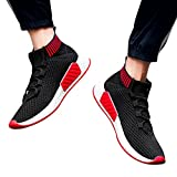 ❤️ Sneaker para Hombres, Hombre High Help Cross Tied Soft Sole Running Calzado Zapatos de Gimnasia Calcetines Zapatos Absolute