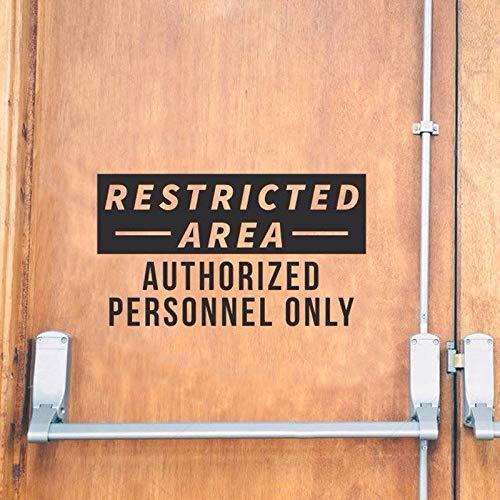Nur autorisiertes Personal Aufkleber Eingeschränkter Bereich Geschäft Restaurant Zeichen Vinyl Aufkleber Fenster Tür Wasserdicht 57X32CM