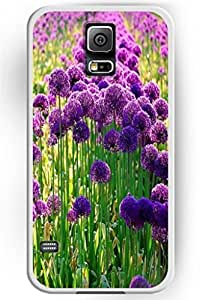 Beautiful Flower Design Hard Shell scene for Samsung Galaxy S5 Hard Plastic Back and Case Floral -- princess Purple dress Blossom &hong hong customize