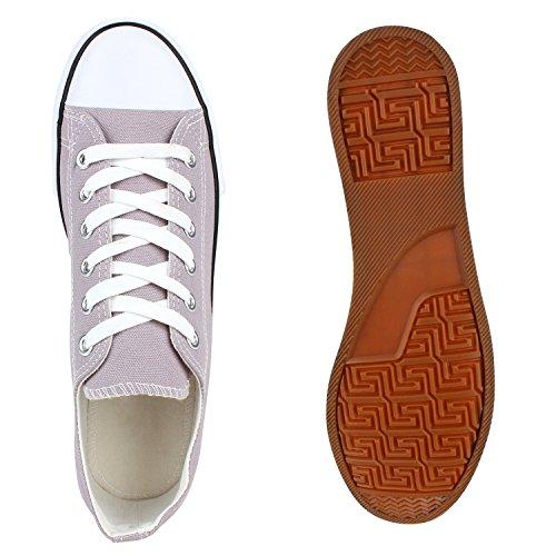 Herren Sneakers Low Canvas Turnschuhe Basic Freizeit Schuhe Grau