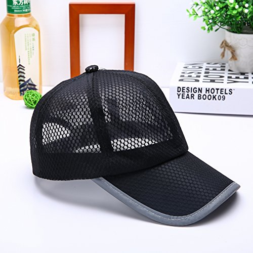 Qlan Mens Women Summer Sport Long Peak Caps Baseball Golf Caps Adjustable Breathable