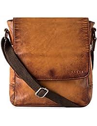 Gauge Hand Padded Leather Messenger Bag For Men
