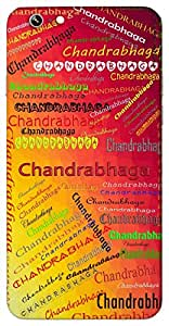 Chandrabhaga (Popular Girl Name) Name & Sign Printed All over customize & Personalized!! Protective back cover for your Smart Phone : Moto G2 ( 2nd Gen )