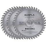 Gunpla 3 Piezas Disco de TCT Hojas de Sierra Circular para Madera Contrachapada 115 mm x 22 mm 40 Dientes