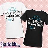 Coppia di t-shirt In Omnia Paratus, Gilmore Girls - Una Mamma per Amica inspired serie tv, idea regalo per due migliori amiche, mamma e figlia!