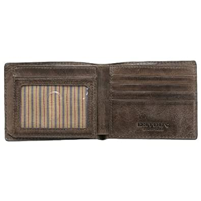 Detour Brown Leather Irving Burnished Bifold Wallet