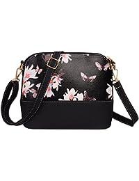 Rrimin Printing Shoulder Bag PU Leather Purse Satchel Messenger Bag For Girl Women