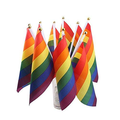 Fan Von Bunting (2xNamgiy Regenbogen Flagge Banner Bunting Party Fahnen Wimpel Sportveranstaltungen Nationalfeiertage Jubiläen Decor Small)