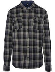 Ternua ® Engus M Camisa, Hombre, Negro (Whales Grey/Black Checks)