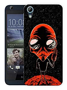 "Humor Gang Alien Says Peace - Red Printed Designer Mobile Back Cover For ""HTC DESIRE 728"" (3D, Matte Finish, Premium Quality, Protective Snap On Slim Hard Phone Case, Multi Color)"