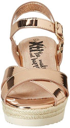 XTI Damen Nude Mirror Pu Ladies Sandals Plateausandalen Pink (Nude)