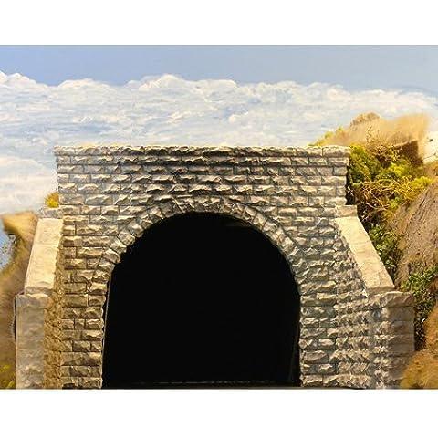 HO Double Cut Stone Tunnel Portal by