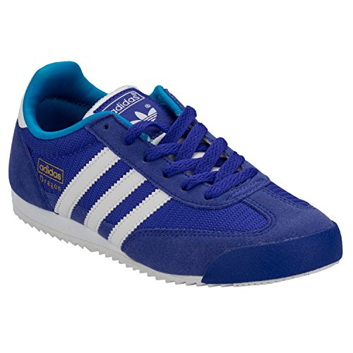 Adidas Dragon J Schuhe night flash-running white-solar blue - 38 2/3