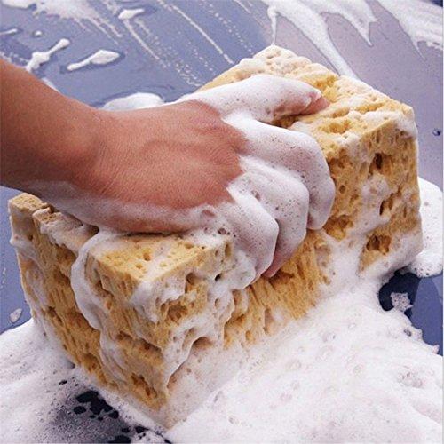 JIALI Praktischer gelber Anti-Rutsch-Schwamm Wasch-Werkzeug Wabenschwamm für Autowäsche Reinigung Bürsten Autowäsche