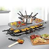 GOURMETmaxx 00972 raclette et fondue set | Appareil à Fondue | Appareil à Raclette | 38 Pièces | 1600 W