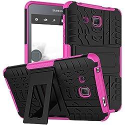 """KATUMO® Etui Compatible avec Tablette Galaxy Tab A 7.0"""", Gel Coque Housse Pochette pour Samsung Galaxy Tab A 7.0 Pouces 2016(SM-T280/SM-285N) Etui de Protection Case Cover-Rose Rouge"""