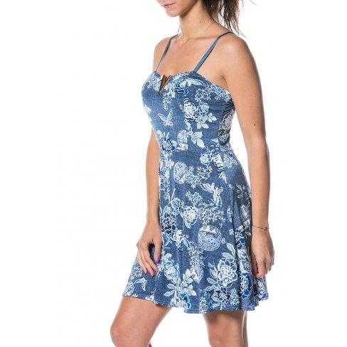 Princesse boutique - Robe courte BLEU à motif Bleu