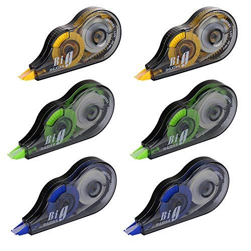 Siumir nastro di correzione correttore roller grande capacità nastro per scrittura tre colori, confezione da 12