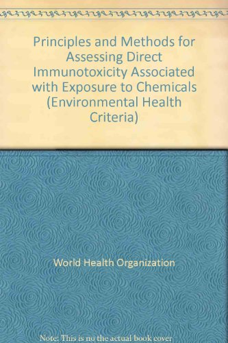 Principles and Methods for Assessing Direct Immunotoxicity Associated with Exposure to Chemicals (Environmental Health Criteria) por World Health Organization