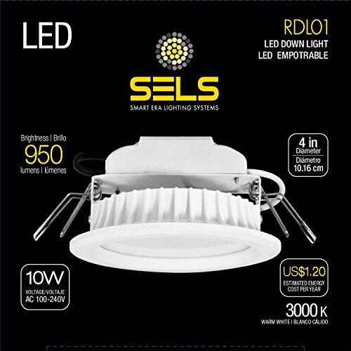 Halogen-downlight-kit (Sels LED Einbauleuchte, LED Einbauleuchte 10Watt 10,2cm 950Lumen, ersetzt 75Watt Einbauleuchte/Downlight, (3000K) Soft weiß)