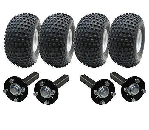 Parnells Doppel Achse Atv Anhänger Satz - Quad Anhänger - 4 Räder + Vier Radlager & Stummel keine Haken -
