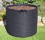 200L?Ø72x 50cm Sac de plantation avec poignées Sac de plantation Casseroles Grow Bag Plant Pot Plate-bande surélevée