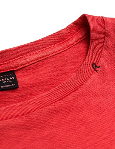 Replay Herren T-Shirt M3238 .000.22336g Rot (Electric Red 254)