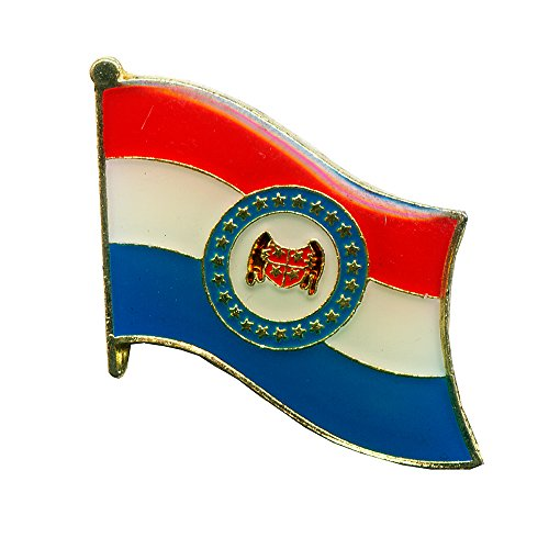 Amerika Missouri Jefferson City Flagge Flag Badge US Staaten Pin Anstecker USA - 3 (Jefferson City Missouri)
