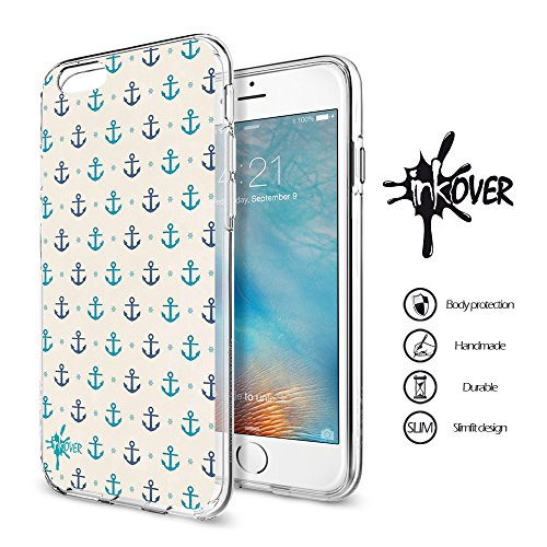 Cover iPhone 6 PLUS , Cover iPhone 6S PLUS - INKOVER - Custodia Cover Protettiva Guscio Soft Case Bumper Trasparente Sottile Slim Fit Tpu Gel Morbida INKOVER POKER DESIGN Carte Gioco Azzardo Texas Hol ANCORA 7