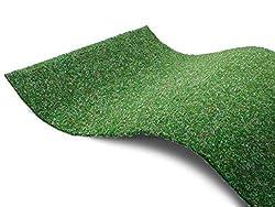 Premium Rasenteppich Meterware GREEN - Grün, 2,00m x 3,00m, Pool-Unterlage Poolmatte, Wasserdurchlässiger Vlies-Rasen mit Noppen, Pool-Unterlage Poolmatte, Outdoor Teppich, Bodenbelag für Balkon, Terrasse & Aussenbereiche