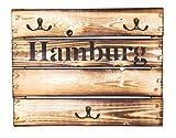 Schlüsselbrett aus Holz geflammt