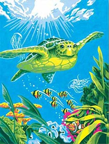 Maße paintworks Malen lernen 22,9x 30,5cm Schwimmen Schildkröte Paint Kit