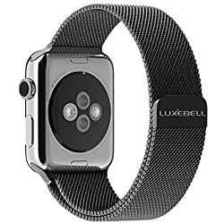Luxebell® Apple Watch Strap, 38mm/ 42mm Milanese Loop Stainless Steel Bracelet Strap Band for Apple Watch 38mm All Models with Unique Magnet Lock(No Buckle Needed)