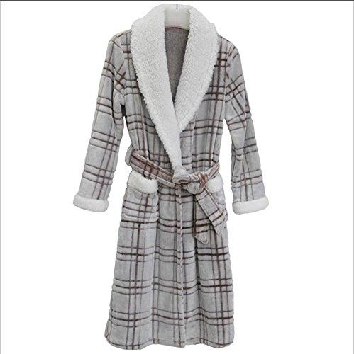 DMMSS Le donne autunno e l'inverno camicie da notte imbottito plaid pigiama di flanella accappatoio Sleepwear , s