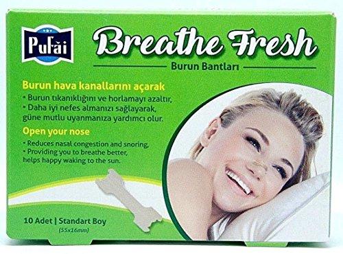 Pufai Breathe Fresh Nasenstreifen Stoppt das Lösen von Problemen Standardgröße 55 mm 16 mm 10 Stück