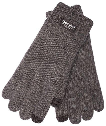 EEM Touchscreen Handschuhe JETTE-IP für Damen mit Thinsulate™ Thermofutter, 100% Wolle, anthra, Größe M (Thinsulate Handschuhe Damen)