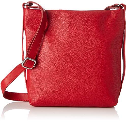 064 Umhängetasche, Rot (Red), 20x22x6 cm (Rote Handtasche)
