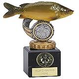 """4,75""""Flexx Specchio per pesca alla carpa Trophy Award con incisione fino a 30lettere"""
