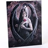 Fantastic Anne Stokes Design Gothic Rose Angel /Rose Fairy Canvas Picture On Frame Wall Plaque/ Wall Art by ANNE STOKES