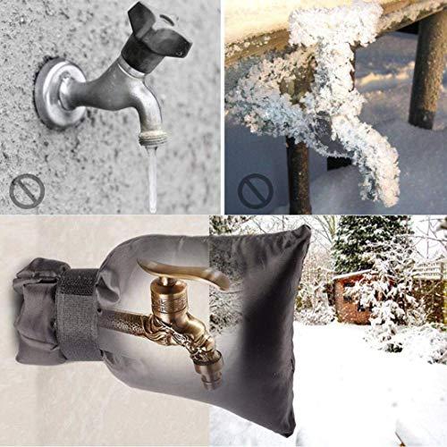 samLIKE Wasserhahn Abdeckung,Thermoschutz für Garten-Wasserhahn, Frostschutz und kältebeständig Außen Wasserhahn Abdeckung, Verdickung Winterfester Beutel für Wasserhahn (Schwarz)
